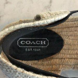 Coach Shoes - Coach sling back espadrilles